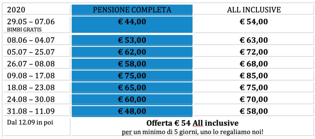prezzi hotel bellaria