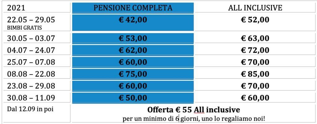 hotel bellaria prezzi